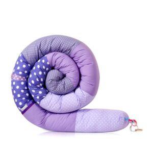 נחשוש מגן ראש למיטת תינוק ולמיטת מעבר שלובים של סגול