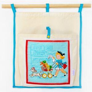 ארגונית כיס תלוי בסגנון ילדים רטרו עוזרים בקניות