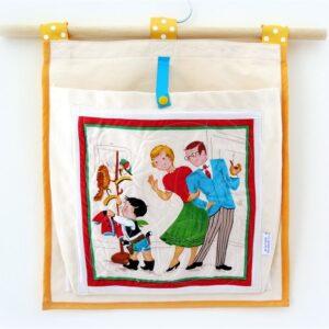ארגונית כיס תלוי בסגנון ילדים רטרו עוזרים בבית
