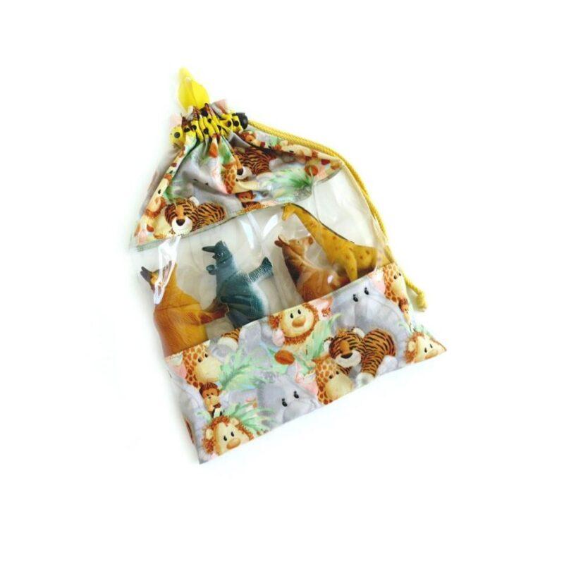 התיק הזואולוגי לילדים, תיק שקוף לבעלי-חיים ספארי